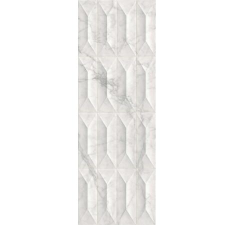 PLOČICE IMPERIALE STRUTTURA GEMMA 3D STATUARIETTO GLOSSY RETT 300x900 Ragno R757