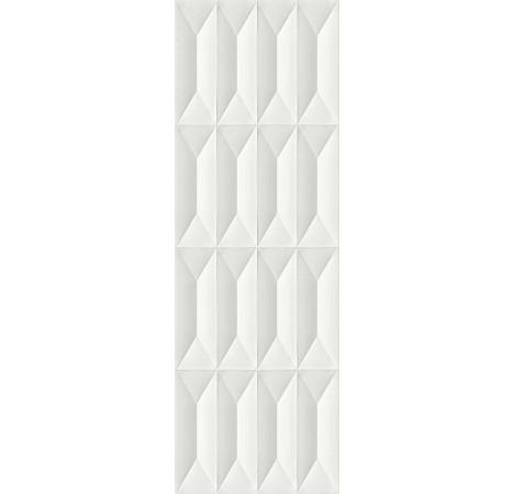 PLOČICE OFF BIANCO SATINATO STRUTTURA GEMMA 3D RETT 300x900 Ragno R76E