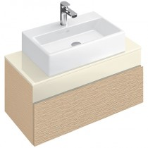 ORMARIĆ ZA LAVABO 806x370x460mm MEMENTO BRIGHT OAK/GLASS CREAM Villeroy&Boch C780M0FC